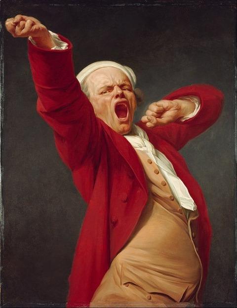 Self-Portrait Yawning by Joseph Ducreux 1783