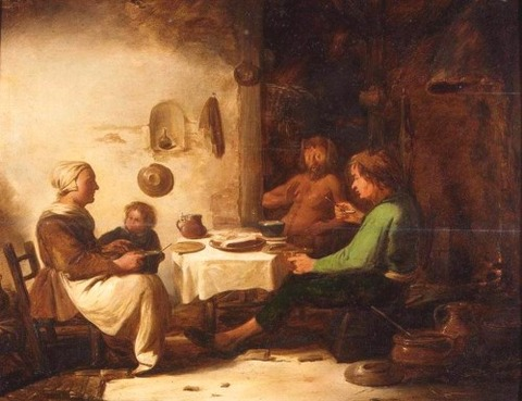 Benjamin Gerritsz Cuyp  The Satyr and the Peasant Family  17th