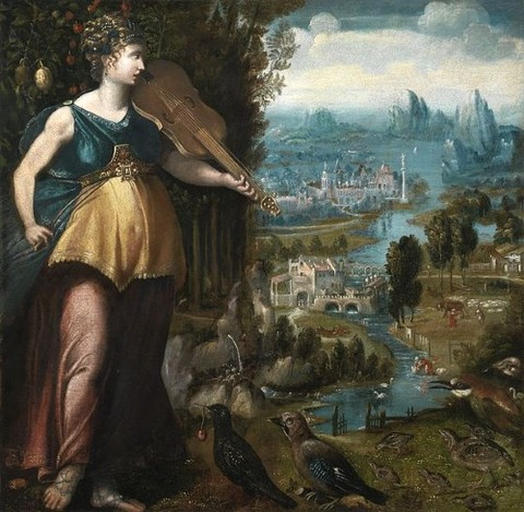 Franco-Flemish School 16th  Allegory  Music