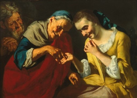 A fortune teller by Gaspare Traversi 1722–70