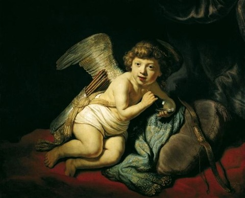 Cupid Blowing a Soap Bubble 1634