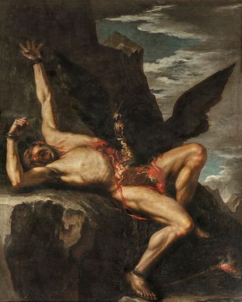 The Punishment of Prometheus, Salvator Rosa 1648 - 1650,