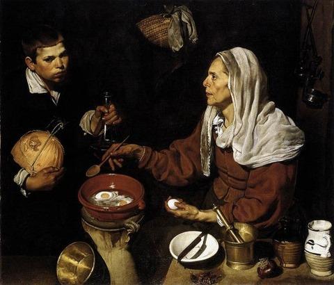Vieja Friendo Huevos (Old Woman Cooking Eggs) 1618