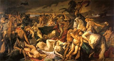 La bataille des Amazones, par Anselm Feuerbach, 1873