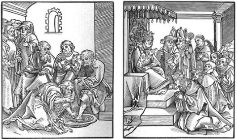 Christus wascht die Füße seiner Jüngers (1521)