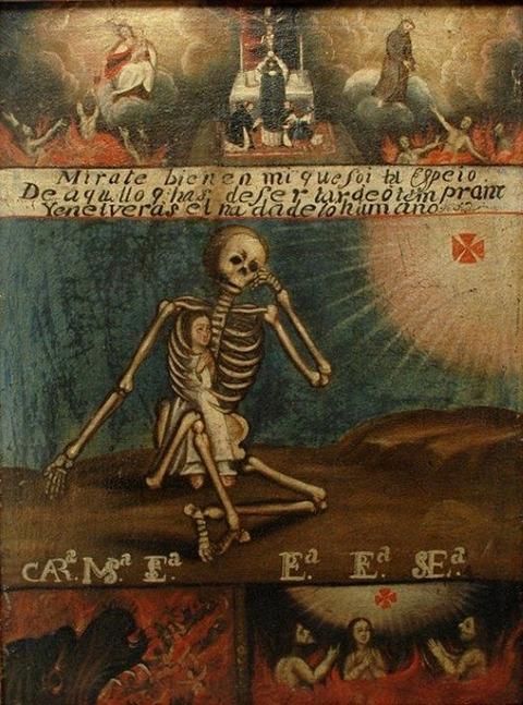 Anonimous Novohispanic artist Death Purgatory  Hell  18th
