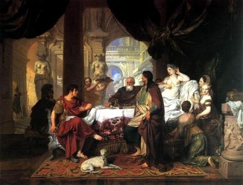 Cleopatra Banquet  1675-80 Gerard De Lairresse