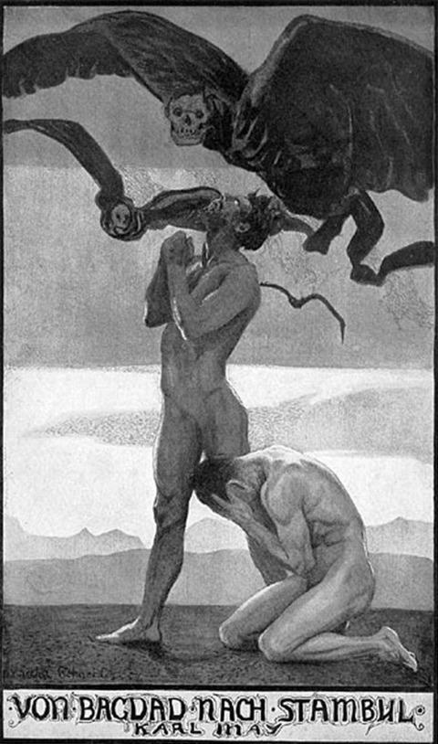 Illustration for Karl May's Von Bagdad nach Stambul  1904