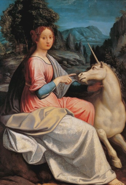 Lady Unicorn (Probably Giulia Farnese) Luca Longhi before1580