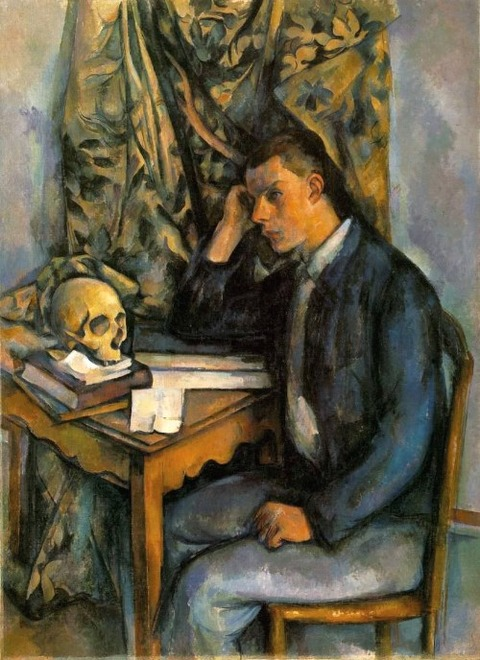 Paul Cézanne - Young Man With a Skull