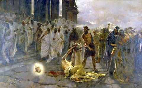 Enrique Simonet Lombardo  The Beheading of Saint Paul 1887