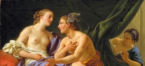 Mercury Herse  Aglauros by Louis-Jean-Francois -