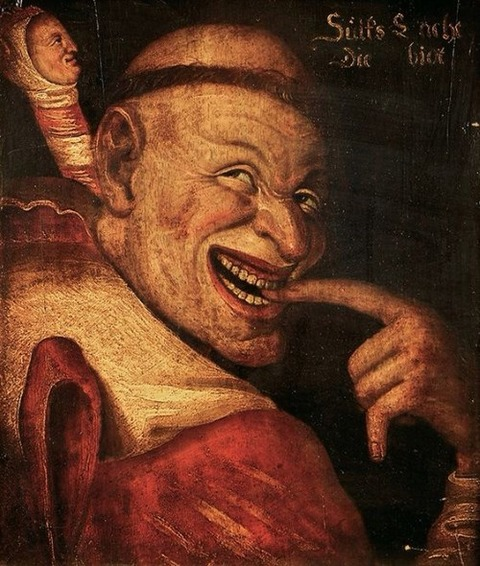 16C German painting of a fool