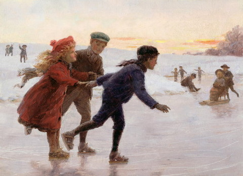 Children Skating by Tarrant, Percy 1883-1904