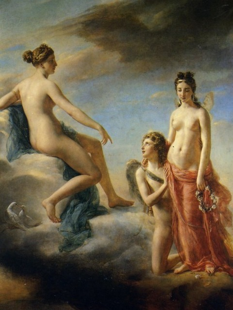 Cupid Pleading Venus to Forgive Psyche  Georges Rouget