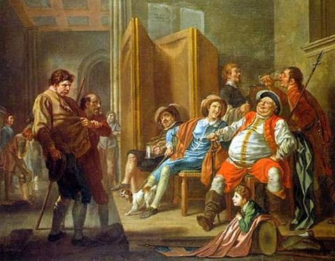 Francis Hayman Falstaff Raising Recruits 1760