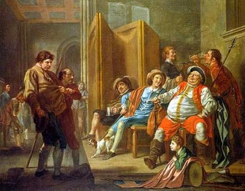 Francis Hayman Falstaff Raising Recruits 1760