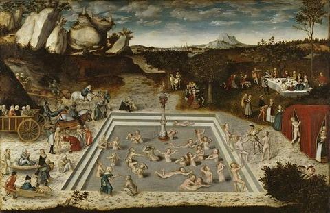 Lucas Cranach - Der Jungbrunnen  1546
