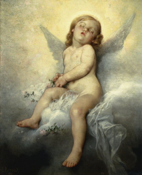 Sleeping Angel Leon Basile Perrault