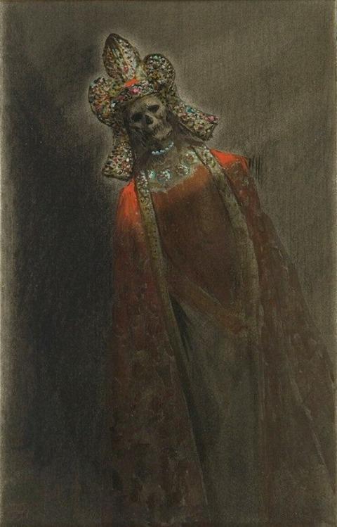 Armand Rassenfosse 1862-1934 La Mort Couronnée