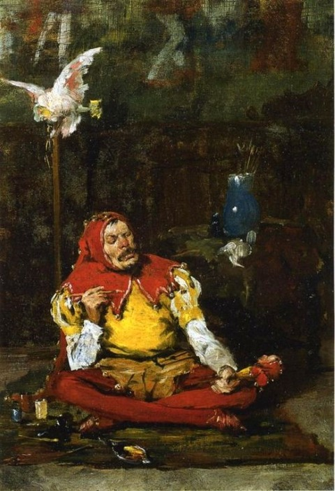 William Merritt Chase - The King's Jester, 1875