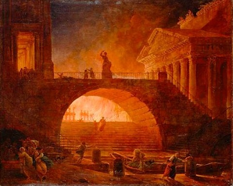 Robert, Hubert - Incendie à Rome 1733-1808