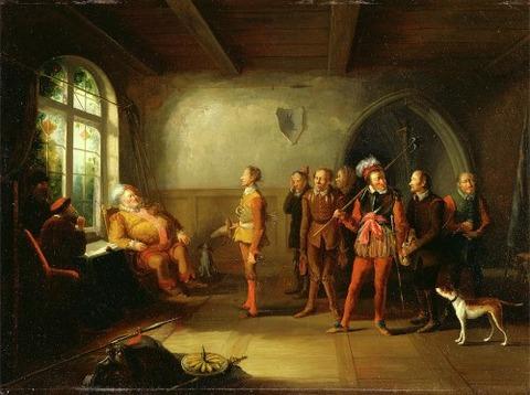 Falstaff and the recruits  Henry IV  Part II  John Cawse