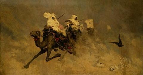 Camel cavalry Wilhelm Kotarbiski