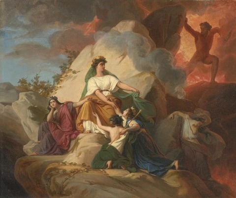 Francois-Edouard PICOT Cybele Vesuvius Protect  Cities 1832