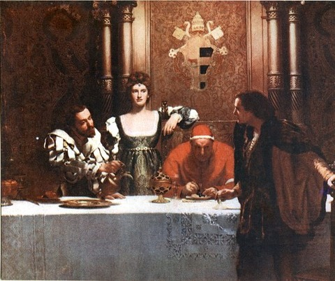 ジョン・コリア 1893 チェザーレ・ボルジアと一杯のワイン