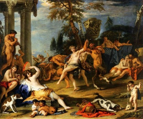 Bacchanal in Honour of Pan 1716 Sebastiano Ricci