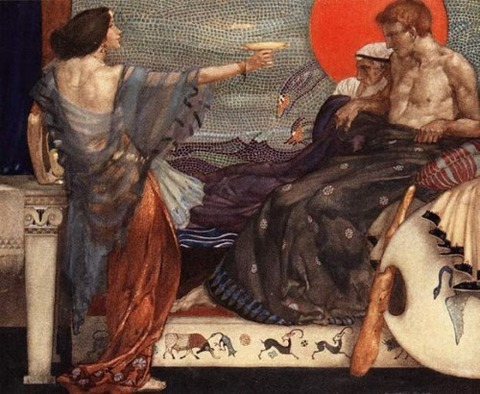 Sir William Russell Flint Medea Theseus and Aegeus 1910