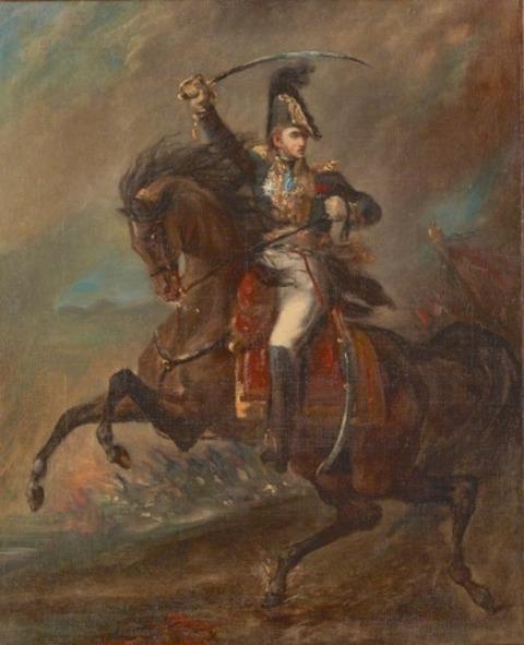 突撃するナポレオン軍の将軍