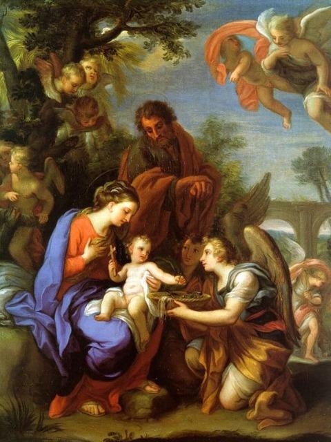 Giuseppi Chiari 1654-1727 Le Repos de la Fuite en Egypte