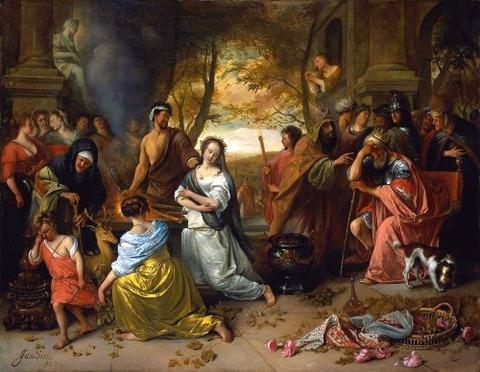 Sacrifice of Ipheginia Jan Steen (1671)