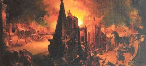 The Burning of Troy (1759-62)  Johann Georg Trautmann -