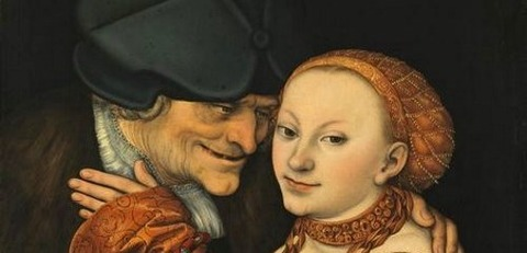 Lucas Cranach the Elder. Ill-matched Lovers -
