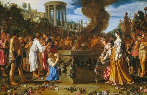 Pieter Lastman  De offerstrijd tussen Orestes en Pylades 1614