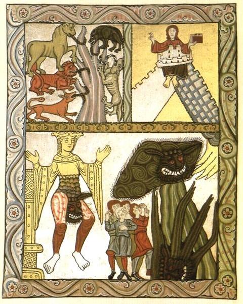 Antichrist from Hildegard von Bingen's Scivias 1151