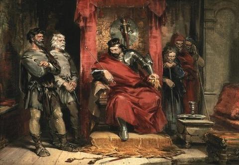 バンクォーの暗殺を命ずるマクベス  George Cattermole 1800-68