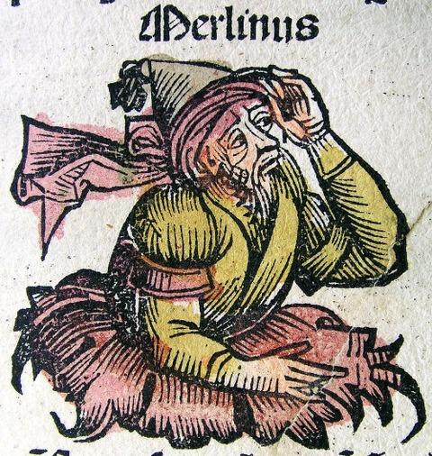 Merlinus in the Nuremberg Chronicle  1493