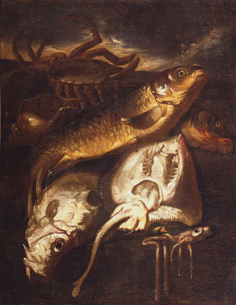Giacomo Francesco Cipper 1664–1736 Still Fish Shellfish
