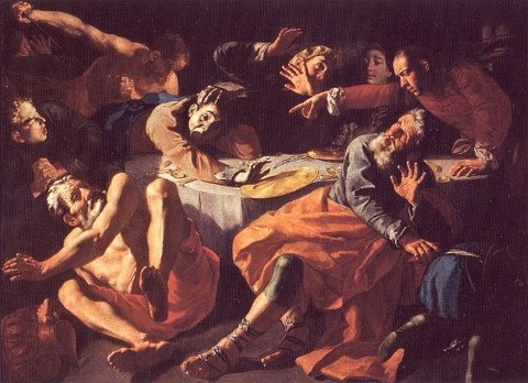 Gaspare Traversi Assassination Amnon Feast  Absalom 1752