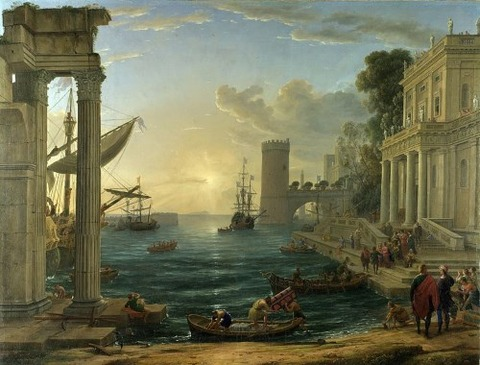 The Embarkation of  Queen Sheba, Claude Lorrain (1600‒82)
