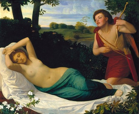 Cupid and Psyche (1867) by Alphonse Legros