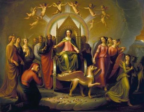 Andrea Pierini  Meeting of Dante Beatrice in Purgatory 1853