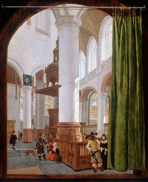 Church interior by Gerard Houckgeest  1654