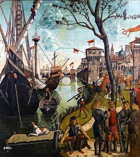 Arrival in Cologne Vittore Carpaccio 1490