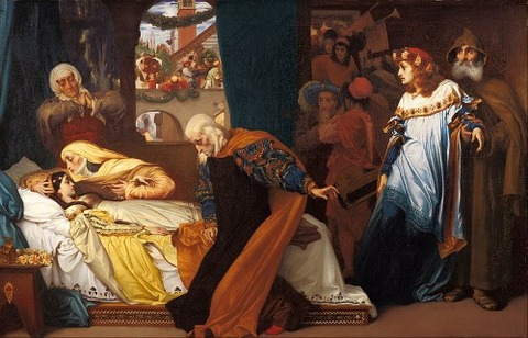 Frederic Leighton - The feigned death of Juliet 1856-58