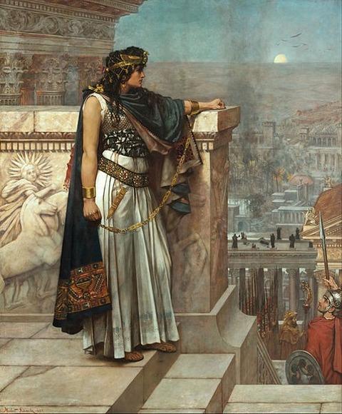 Herbert G Schmalz Zenobia's last look on Palmyra 1888